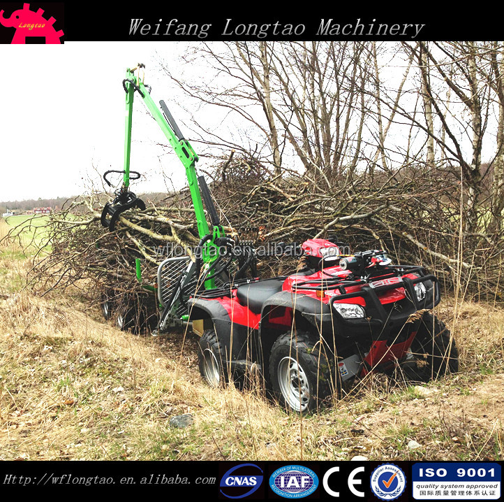 ATV Logging Trailers Loaders/Quad Bike log loader with trailer for sale