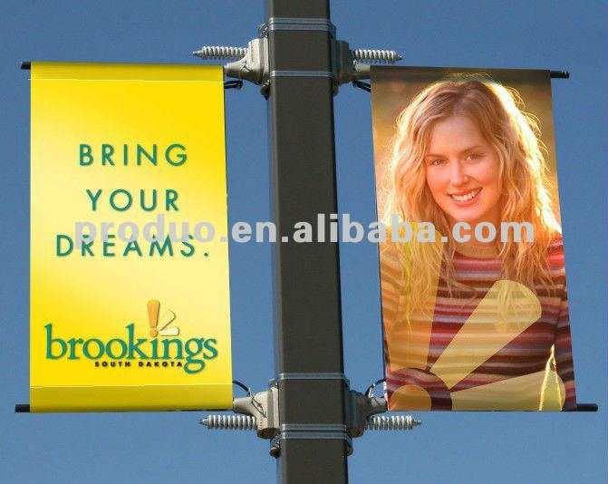 Outdoor Display Banner Carrier For Lamppost Banner
