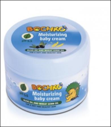 Hydrating Baby Cream with olive oil and wheat germ oil for soft and healthy skin