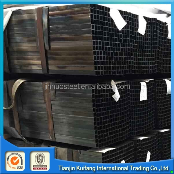 ERW carbon steel black square tube iron fence