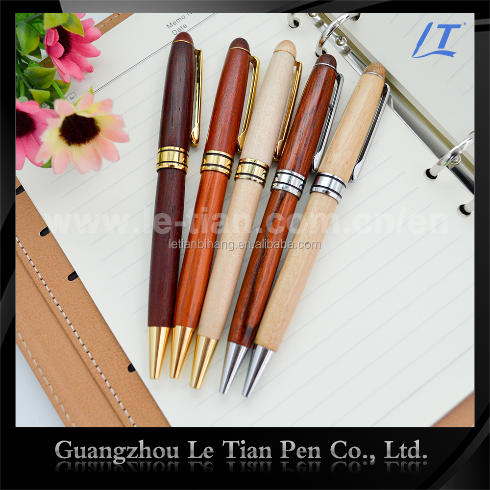 LT-W128 Promotional gift wooden twist ball pen