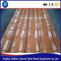 PPGI Steel Glaze Corrugated Sheet Single Roof Tile