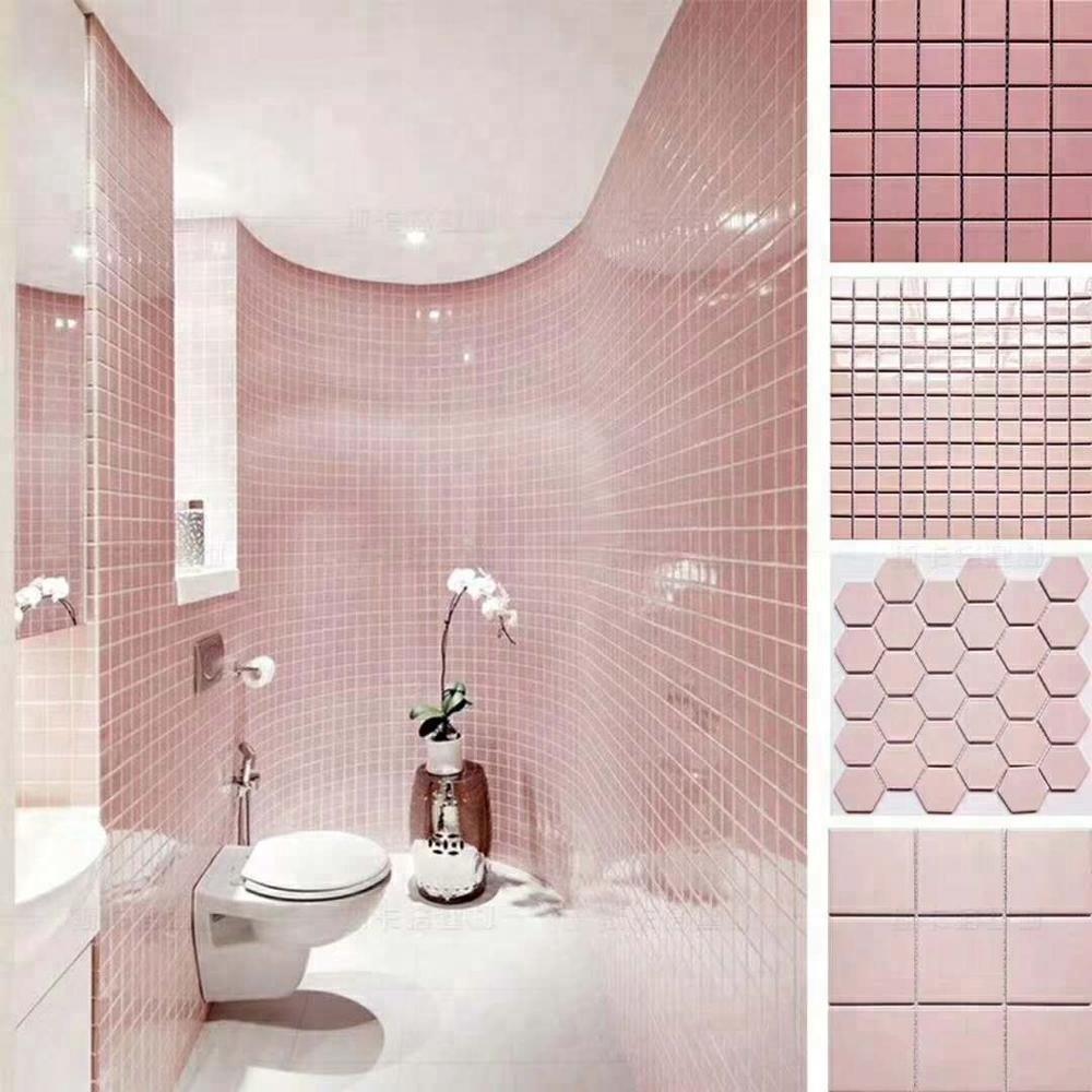 Bathroom Kitchen Wall Pink Tiles Tile Product On Alibaba