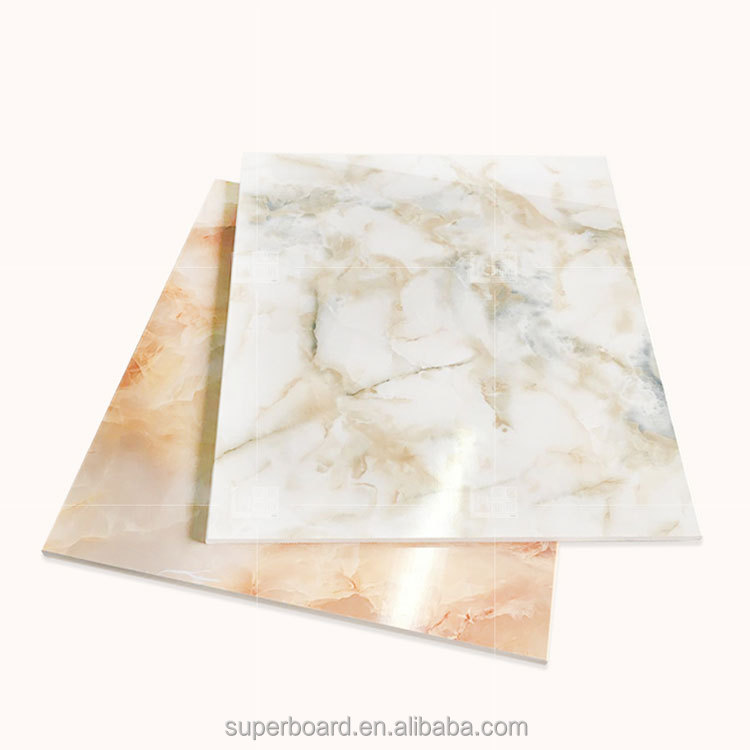 Decorative <strong>Acrylic</strong> Wall Panels PVC UV Marble Ceilings 3 mm