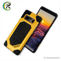 2017 New Arrival PC+TPU Mobile Phone carbon Case cover 2 in 1 for Samsung note8 s8 Plus armor case