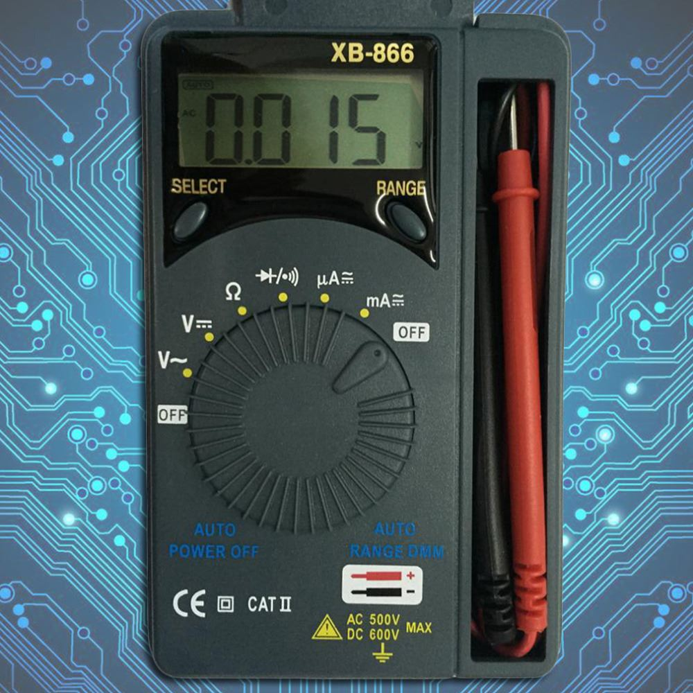 1Pc Auto Range LCD Mini Tool Voltmeter Tester, AC/DC Pocket Digital Multimeter Newest Hot Search