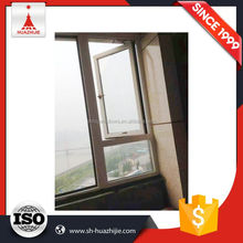 Useful top level aluminum clad awning single hung window