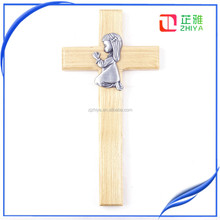 israel prayer olive wood hand cross