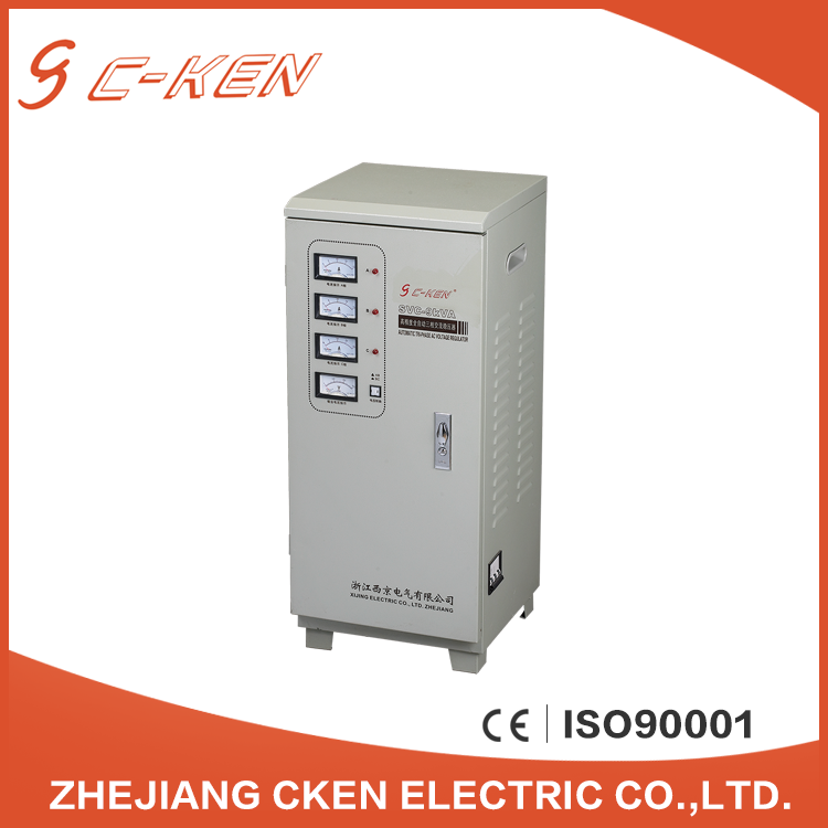 Cken China Manufacturer SVC 3KVA 5KVA Three Phase Vertical AC Automatic Voltage Stabilizers with EU Standard