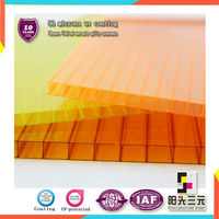 4mm Twin wall polycarbonate panel;roofing panel