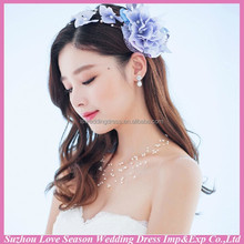 WC0009 New fashion top quality wedding ceremony hot sale beautiful artificial flower <strong>crown</strong>