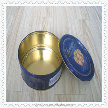 personalized custom printing tin can gift box cookie tin can round metal tin boxes for cookies
