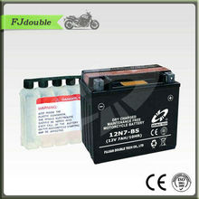 12N7-BS Battery/Maintenance free Dry Charge Motorcycle battery12V7AH