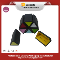 Fashionable paper cufflink box, wholesale colorful box for cufflink