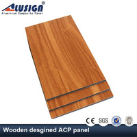Alusign hot sale wood plastic composite exterior wall cladding of external materials