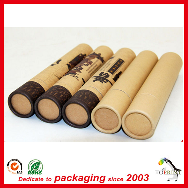 Custom kraft your size food glass paper small tube packaging for tea luxury colorful printed casual healthy pack