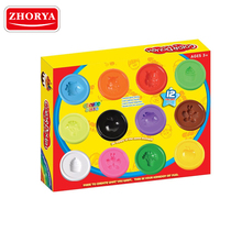 Zhorya 12 color diy wholesale play dough modeling for kids