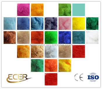 100% PET recycled colored polyester staple fiber for non-woven fabric PSF