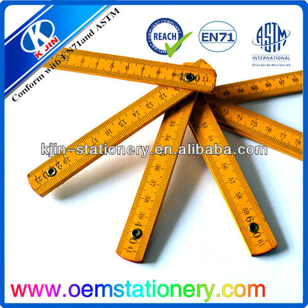 2014 100cm graduated ruler/100cm wooden ruler/wooden folding ruler