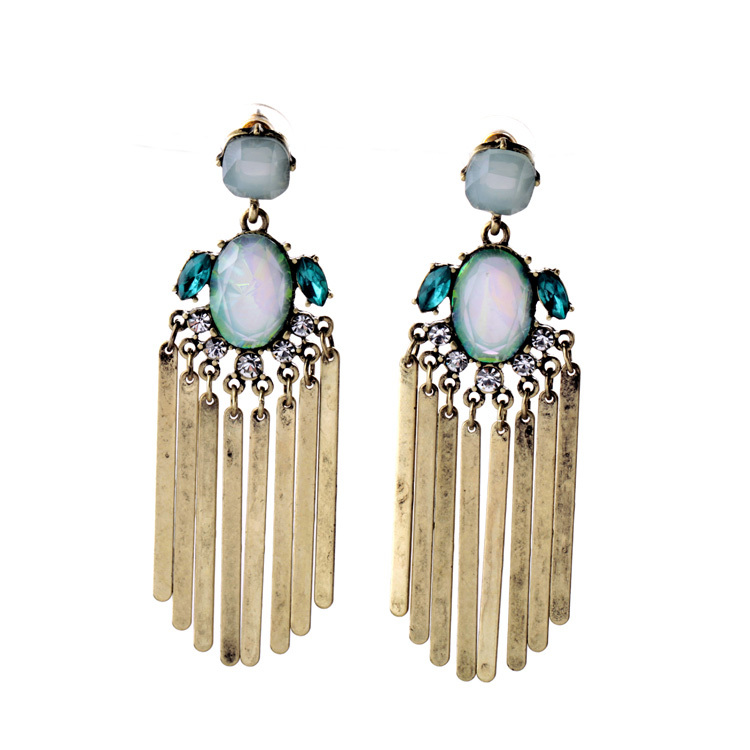 Exaggerate Women Jewelry European 2016 Trendy Long Metal Tassel <strong>Earrings</strong>