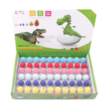 wholesale 2017 new fashion pure color toys dinosaur toy egg
