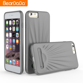 Attractive Appearance Shell Pattern Kickstand tpu case with kickstand for iphone 7 plus