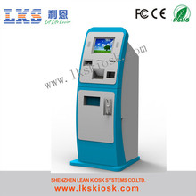 Dual Screen Cash Payment Kiosk Credit Card Reader