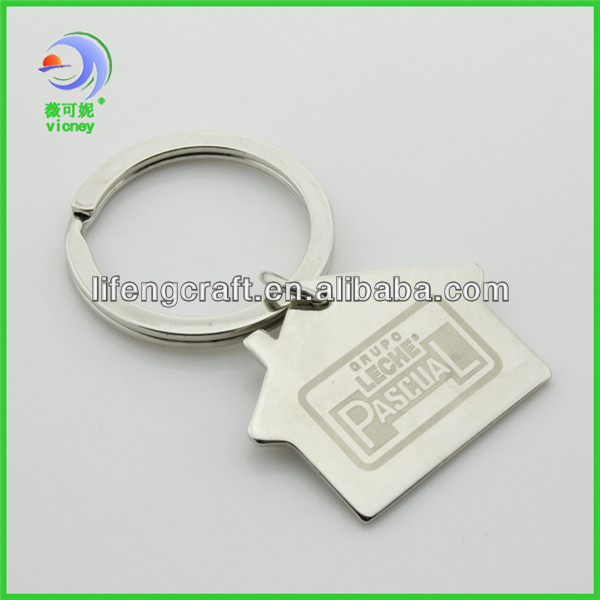 house shape cheap custom keychains no minimum