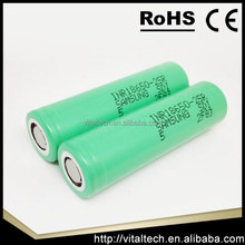 2015 hot sale 18650 2500mah 25r samsung Lithium laptop battery cell 18650 samsung inr18650-25r for ecig