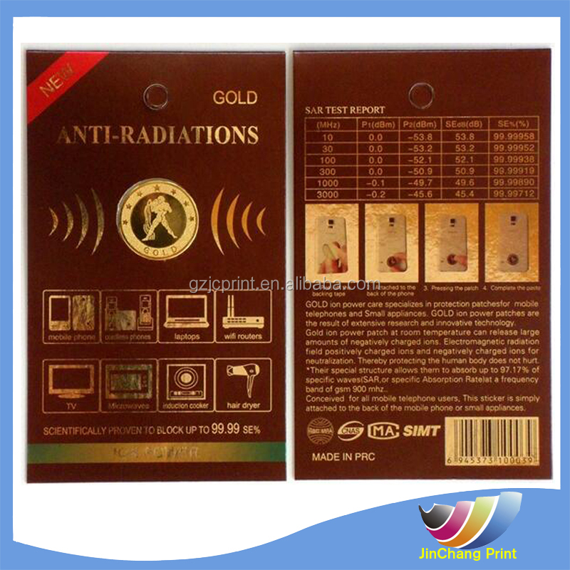 Factory direct selling new tested anti radiation stickers
