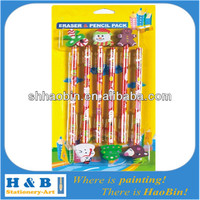 christmas topper pencil eraser