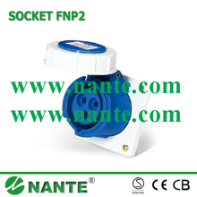 Industrial Plugs and Sockets 3P, 16A,32A, Waterproof IP67 FNP2-313F female plug socket