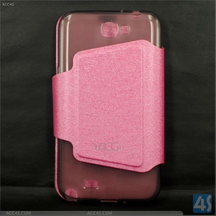 Protective Luxury Leather Wallet Case Cover for Samsung Note 2 /II P-SAMN7100CASE053