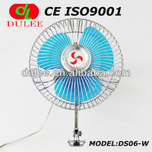 dulee 6 inch oscillating full metal durable electric exhaust bus fan