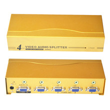 VGA splitter 600MHz 1 input 4 output VGA distributor with Audio