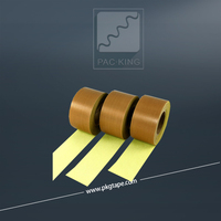 China low price high temperature resistance brown teflon adhesive fabric tapes with yellow liner