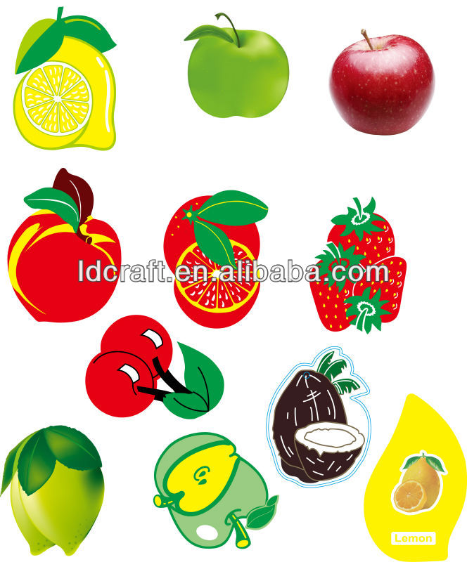 fruit shape fruit smell promotional customized design car air freshener ,paper air freshener ,air freshener
