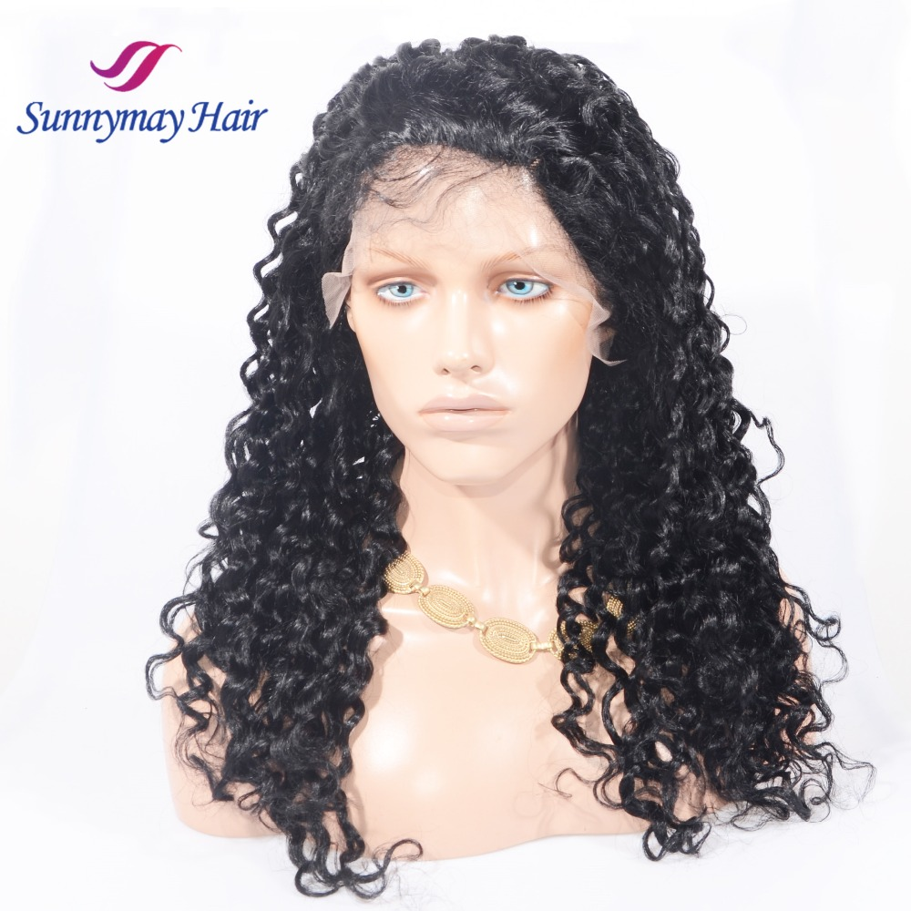 Sunnymay Top Quality Brazilian Hair Deep Curly Lace Front Wig 120 Density for Black Women
