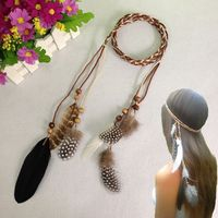 Wholesale Indian Headdress Fashion Feather Headband For Ladies