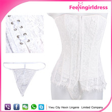 Pure Sexy White Wholesale Hot Sale Romance Fast Shipping Bridal Corset