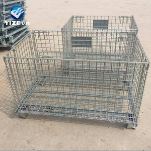wire rolling metal storage cage with wheels Wire Container Type