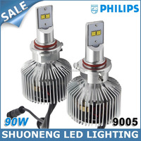 Newest CE RoHS Approved Lumileds 45W 6000K 4500lm Replacing Halogen HID HB3 9005 LED Car Headlight Tuning Light