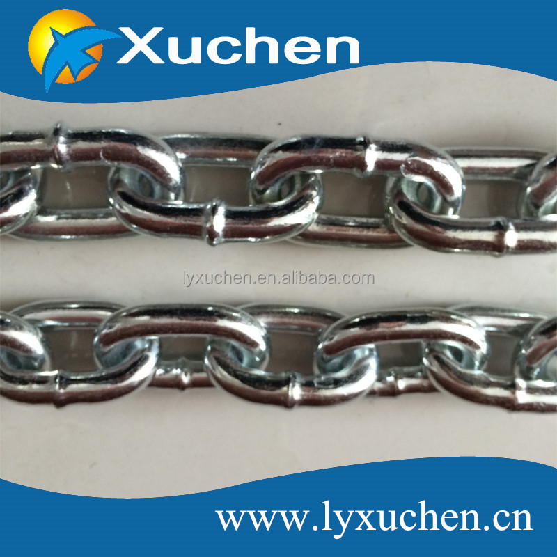 5mm British standard hot dipped galvanized short link chain