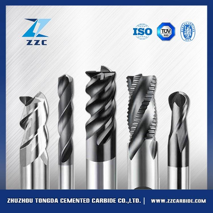 Precision coating effective of Solid <strong>carbide</strong> 4flute chamfering endmills for roughing for Cutting Aluminum