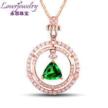 Natural Gemstone Jewelry Trillion Pendant,Diamond Pendant In 18 K Real Gold Jewelry