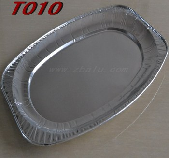 17'' disposable serving aluminum foil tray T010