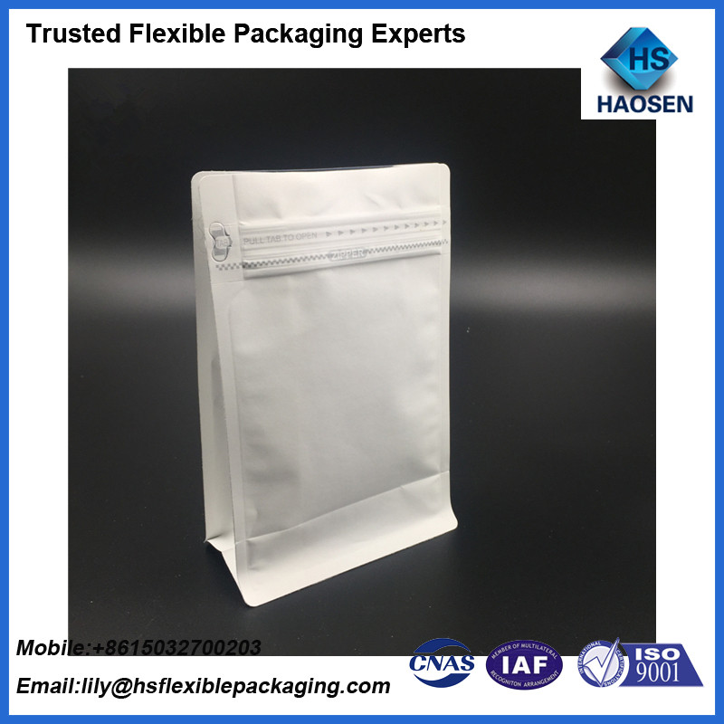 Aluminum Foil Zip Lock Bag Customized Flat Bottom with Gusset Stand up Pouch