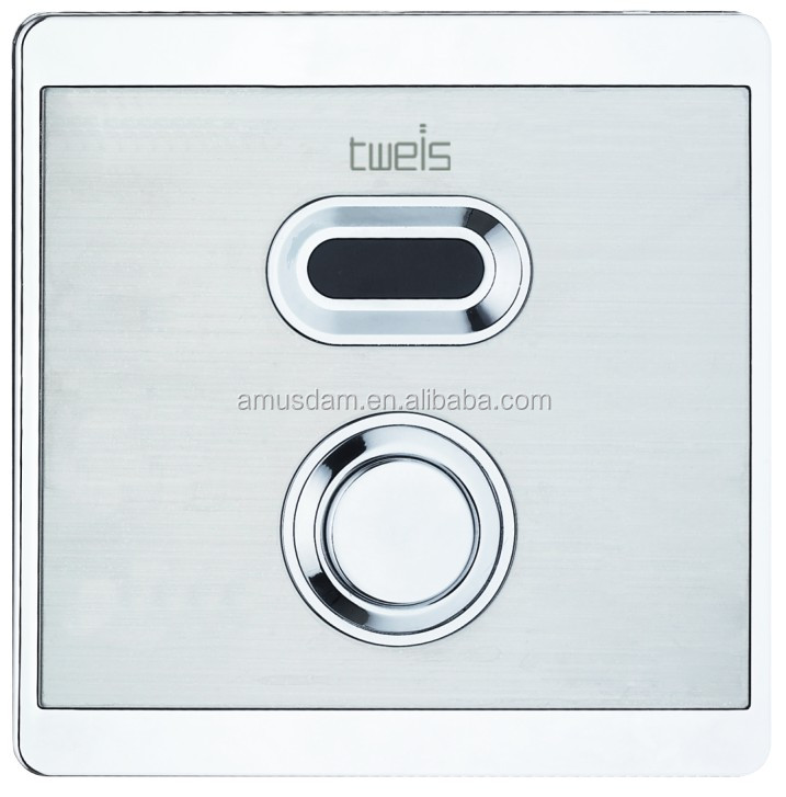 Shade sensor time delay wc toilet flush valve with sensor