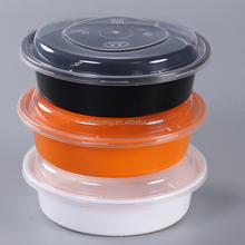 plastic custom made round bowl for take away food