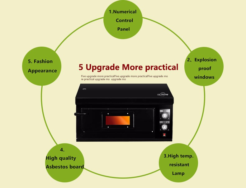 Shentop STPE-GP14 commercial pizza bread cake chicken bakery equipment for sale gas oven